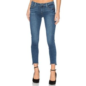 🎉Paige Verdugo Ankle Raw Frayed Hem Cropped Jeans